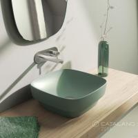 Керамічна раковина 40 см Catalano Green Lux, зелена 140AGRLXVS