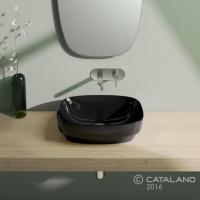 Керамічна раковина 50 см Catalano Green Lux, чорна 150AGRLXNE