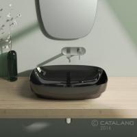 Керамічна раковина 65 см Catalano Green Lux, чорна 165AGRLXNE