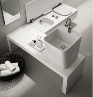 Керамічна раковина 40 см Hatria G-Full, білий YXG801